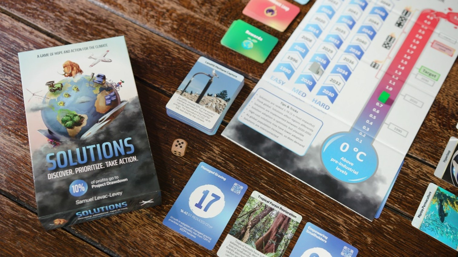 The board game version of Project Drawdown (Image: Solutions)
