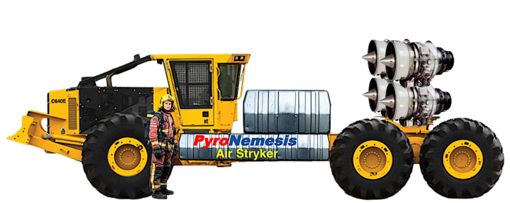 The machine that will give firefighters an edge against fires. (Image: PyroNemesis)