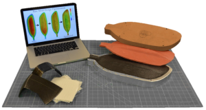 Utilizing digital modeling and proprietary optimization algorithms to drive the design of the fabrication process and manufacture complex components. (Image: Vistex Composites)